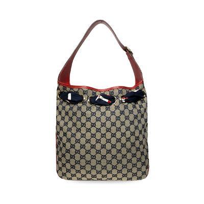 GG supreme scarf hobo bag